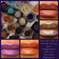 Create your own perfect lip color with Younique mineral pigments!! #younique #mineralpigments #workfromhome www.youniqueproducts.com/Jess