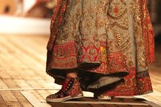 The Couture Converse! Pakistani Outfits, Indian Outfits, Indian Clothes, Indian Dresses, Bridal Shoes, Wedding Shoes, Wedding Jewelry, Wedding Sneakers, Indian Bridal Fashion