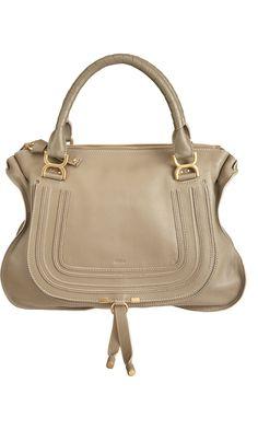 Marcie Large Satchel - Chloé ( Tote / shoulder bags Top handle Leather Tan Flap bags)