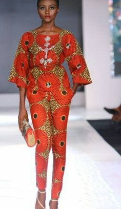 Afrikanisch/ethnische /ankara Frauen Jumspuit mit unsichtbaren Taschen