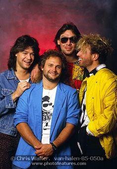 Van Halen 1985 Eddie Van Halen, Michael Anthony, Alex Van Halen and Sammy Hagar