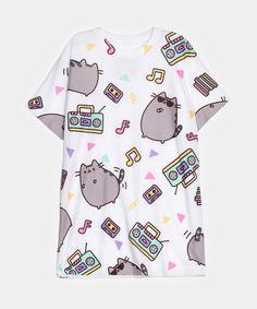 Dance Party Pusheen all-over print unisex T-shirt - Hey Chickadee ($24 + $9-ish shipping)