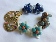 Lot of 4 Pair Earrings Clipon by FrouFrou4YouYou on Etsy