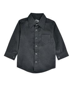 Look at this #zulilyfind! Black Button-Up - Infant, Toddler & Boys by Littlest Prince Couture #zulilyfinds