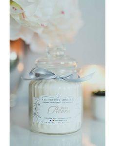 Bougie bonbonnière en cire de soja, parfumée Doux rêves.