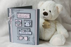 Faire part de Naissance /Steff  #florilegesdesign Scrapbooking, Gallery Wall, Teddy Bear, Toys, Frame, Tampons, Cards, Inspiration, Bebe