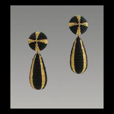 Samen Perlen Ohrringe - Malteserkreuz Ohrringe