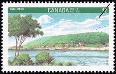 Sello: Ville-Marie (Canadá) (Canada 92 International Stamp Exhibition) Mi:CA 1280,Sn:CA 1405,Yt:CA 1235,Sg:CA 1487