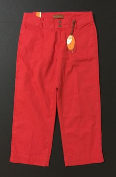 Lee Jeans Women's Red One True Fit Capris, Cropped Pants Size 4 (3/4) NWT #Lee #CaprisCropped