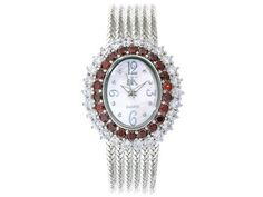 Adee Kaye Beverly Hills White And Red Diamond Simulant Mother Of Pearl