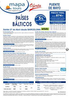 Países Bálticos Pte. de Mayo salida Barcelona 27 Abril **Precio final desde 874** ultimo minuto - http://zocotours.com/paises-balticos-pte-de-mayo-salida-barcelona-27-abril-precio-final-desde-874-ultimo-minuto/