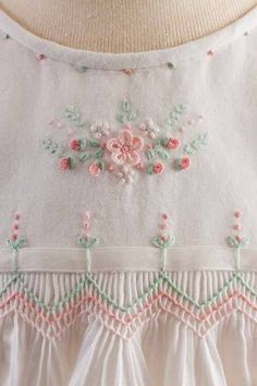 Enchanted Gardens by Debbie Glenn from issue 2 of the new magazine Classic Sewing available at · Smocking PatternsSmocking BabySewing Smocking Baby, Smocking Plates, Smocking Patterns, Sewing Patterns, Skirt Patterns, Coat Patterns, Blouse Patterns, Ribbon Embroidery, Embroidery Stitches