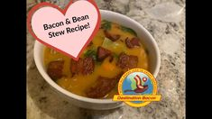 The hubs raved about how delicious this stew turned out! It's hearty and flavorful! It will become one of your favorites! Check it out! Bacon Videos, How To Make Bacon, Bean Stew, Acai Bowl, Beans, Breakfast, Check, Recipes, Food