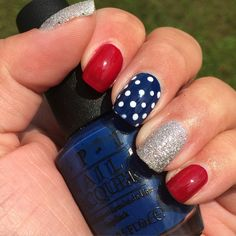 Sinful Colors: Snow Me White dots over OPI Keeping Suzi at Bay, OPI Malaga Wineand OPI It's Frosty Outside