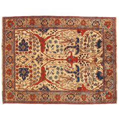 Vintage Bijar Carpet  | From a unique collection of antique and modern persian rugs at https://www.1stdibs.com/furniture/rugs-carpets/persian-rugs/