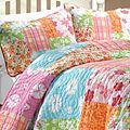 Aloha Girl's Multicolor Printed 100-percent Cotton 3-Piece Quilt Set | Overstock.com