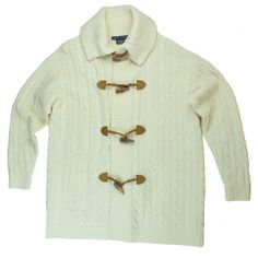 "RALPH LAUREN Ivory Wool Cashmere Toggle Sweater Mint as new condition. Blue Label Ralph Lauren. This Ivory toggle cardigan sweater from Ralph Lauren features an oversized style and drop sleeves. toggle closures. Marked a size XS/S, it's quite large and will fit up to a size large. Measures: Bust: 46"", Total Length: 29"", Sleeves: 20.5"" Ralph Lauren Sweaters Cardigans"