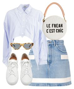 """""""Untitled #5458"""" by theeuropeancloset on Polyvore featuring Givenchy, Opening Ceremony, Clare V., Loeffler Randall and Topshop"""