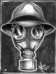 Resultado de imagen para mascara de gas graffiti dibujo
