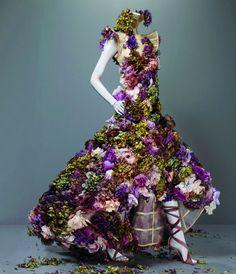 Robe fleurie d'Alexander McQueen