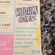 """Beaches and Cream """"Kitchen Sink"""""""