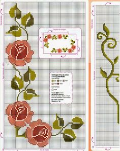 Beginning Cross Stitch Embroidery Tips - Embroidery Patterns Cross Stitch Fruit, Beaded Cross Stitch, Cross Stitch Rose, Cross Stitch Flowers, Cross Stitch Embroidery, Hand Embroidery, Easy Cross Stitch Patterns, Cross Stitch Borders, Simple Cross Stitch
