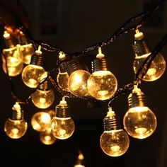 20 LED Light Bulb Ball String Fairy Lights