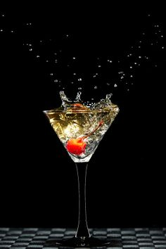 red cherry splashing by Pavel Reband on Liquid Dreams, Business Photos, Family Business, Splash Photography, Graffiti, Splish Splash, Cocktail Drinks, Textures Patterns, Martini