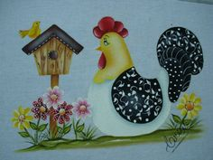 Blog criado por amigas artesãs para compartilhar seus trabalhos e os riscos encontrados na net. Tole Painting, Pottery Painting, Fabric Painting, Painting Patterns, Painting On Wood, Colchas Country, Country Quilts, Arte Do Galo, Sennelier Oil Pastels