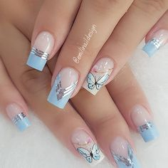 10 Amazing Spring Nail Art Designs That You Should Try Asap Manicure Nail Designs, Nail Manicure, Nail Art Designs, Spring Nail Art, Spring Nails, Perfect Nails, Gorgeous Nails, Cute Acrylic Nails, Cute Nails