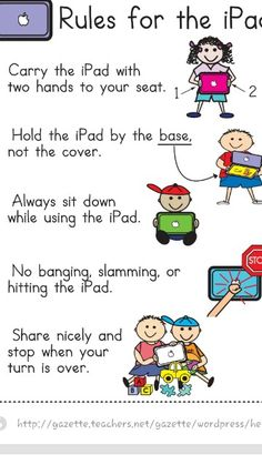 I pad rules for in the classroom!