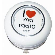 Radio douche I love ma radio   #cadeau #cadeaux #gift  #gifts #ideecadeau #petitsprix #pascher #anniversaire #fete #party #budget #noel