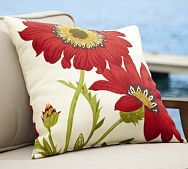 Love these poppy pillows.  I have them on my front porch with black rocking chairs.