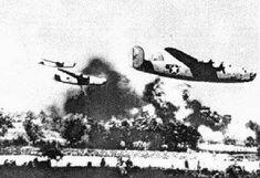 Bombardement de Ploesti par les appareils Alliés