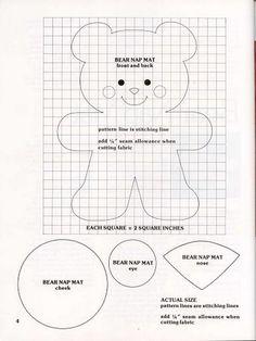 Este foi o molde utilizado para fazer a ursinha!!