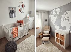 """Our """"adventure"""" themed nursery, good idea if I ever have kids!"""