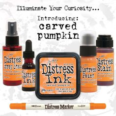 New Distress October 2015 - Carved Pumpkin | www.rangerink.com