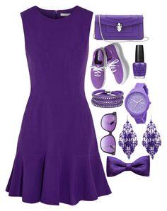 """All in Purple"" by mellisonant ❤ liked on Polyvore featuring Diane Von Furstenberg, Bulgari, OPI, Keds, Rip Curl, Sif Jakobs Jewellery, Amrita Singh, ZuZu Kim, Jimmy Choo and purple"