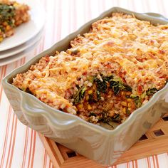 Weight Watchers Mexican Style Brown Rice Casserole: Like a burrito in a bowl, this dish is great for parties. 8 Points+