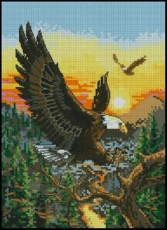 Орел вышивка крестиком