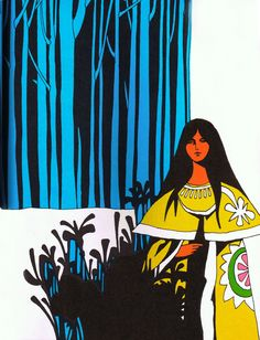 John Alcorn illustration from Pocahontas in London, 1967.