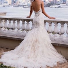 100 open back wedding dresses with beautiful details wedding eve of milady couture fall 2015 beautiful mermaid wedding dress beaded lace bodice tulle skirt sweetheart neckline 4337 junglespirit Image collections