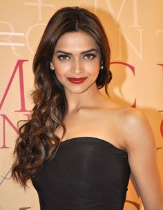 Deepika padukone curled backwards Evening Hairstyles