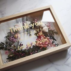 Flower Box Gift, Flower Bar, Flower Boxes, Dried Flower Bouquet, Dried Flowers, Wedding Boxes, Wedding Gifts, Gift Box Design, Cute Birthday Gift