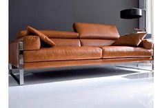 Vintage Long Sofa Dessign Ideas For Classic Living Room Living Room Sofa Design, Bedroom Closet Design, Master Bedroom, Cognac Leather Sofa, Sofa Italia, Leather Living Room Furniture, Modern Furniture, Long Sofa, Sofa Design