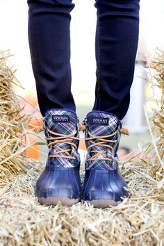 plaid sperry boots