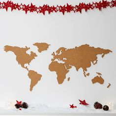 Build a version of the world the way you see it with this wonderful cork map noticeboard.