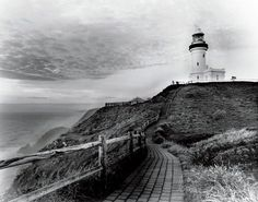 Cape Byron Lighthouse was built on Australia's most easterly point in 1901, Byron Bay, New South Wales.