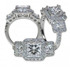 I love a princess cut diamond