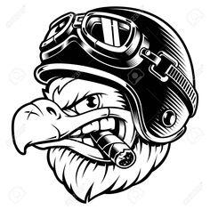 biker with cigar Royalty Free Vector Image ,Eagle biker with cigar Royalty Free Vector Image , Logo Animal, Eagle Wallpaper, Biker Helmets, Eagle Vector, Biker Tattoos, Garage Art, Vintage Labels, Vector Art, Illustration